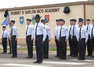 Graduating Class at Lackland NCO Academy(USAF Photo, Robbin Cresswell)