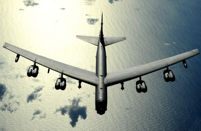 B-52 Stratofortress Over the Pacific Ocean(USAF Photo, MSgt Kevin J. Gruenwald)