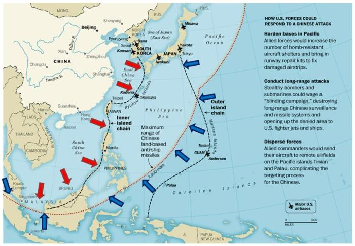 Simultaneous Application of Anti-Access/Area Denial Keeps US Out, China In(Image from Global Balita)