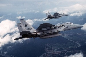 Flight of F-15C Eagles During the 1990s(USAF Photo)