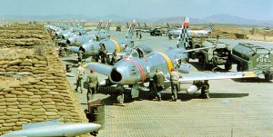 51st Fighter Wing F-86 Sabres at Suwon AB During the Korean War(USAF Photo)