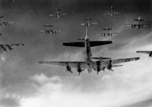 B-17 Flying Fortresses Over Germany in April 1945(USAF Photo)