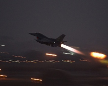 F-16 Takes Off from Incirlik AB on a Mission to Support Operation INHERENT RESOLVE(USAF Photo, SrA Krystal Ardrey)