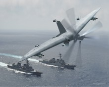 Concept Art for Tern Unmanned VTOL Aircraft for Small Ships(Image by DARPA)